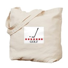 Golf (red stars) Tote Bag