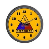 3rd Armored Division Wall Clock