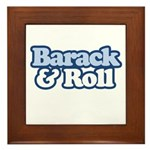 Barack and Roll Framed Tile