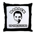 Barack to the future Throw Pillow