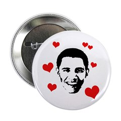 "I heart Barack Obama 2.25"" Button (100 pack)"