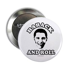 "Barack and roll 2.25"" Button (100 pack)"