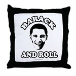 Barack and roll Throw Pillow