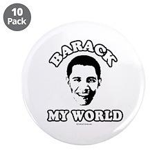 "Barack my world 3.5"" Button (10 pack)"