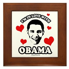I've got a crush on Obama Framed Tile