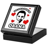 I've got a crush on Obama Keepsake Box