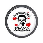 I've got a crush on Obama Wall Clock
