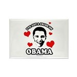 I've got a crush on Obama Rectangle Magnet (100 pa