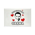 I've got a crush on Obama Rectangle Magnet (10 pac