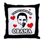 I've got a crush on Obama Throw Pillow