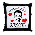 I've got a crush on Obama Throw Pillow