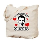 I've got a crush on Obama Tote Bag