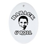 Barack & Roll Oval Ornament