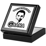 Vote for peace with Obama Keepsake Box