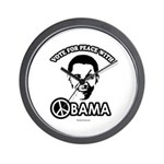 Vote for peace with Obama Wall Clock
