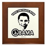 Vote for peace with Obama Framed Tile