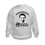 Vote for peace with Obama Kids Sweatshirt