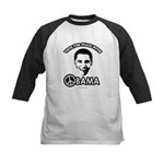 Vote for peace with Obama Kids Baseball Jersey