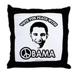 Vote for peace with Obama Throw Pillow