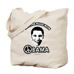 Vote for peace with Obama Tote Bag
