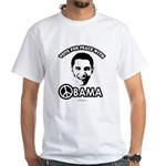 Vote for peace with Obama White T-Shirt