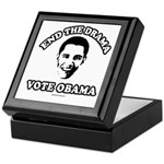 End the drama, Vote Obama Keepsake Box
