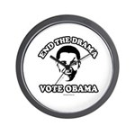 End the drama, Vote Obama Wall Clock