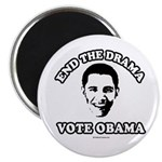 End the drama, Vote Obama Magnet
