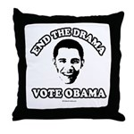 End the drama, Vote Obama Throw Pillow