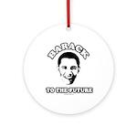 Barack to the future Ornament (Round)