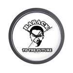 Barack to the future Wall Clock