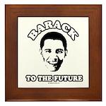 Barack to the future Framed Tile