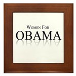 Women for Obama Framed Tile