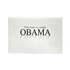 Voto para el cambio: Obama Rectangle Magnet