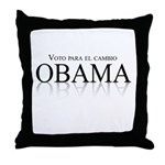 Voto para el cambio: Obama Throw Pillow