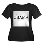 Voto para el cambio: Obama Women's Plus Size Scoop