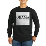 Voto para el cambio: Obama Long Sleeve Dark T-Shir