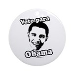 Voto para Obama Ornament (Round)