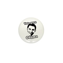 Voto para Obama Mini Button (100 pack)