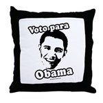 Voto para Obama Throw Pillow