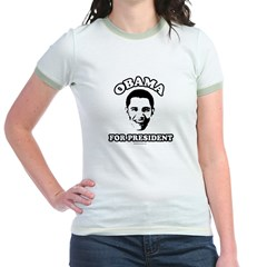 Obama for President Jr. Ringer T-Shirt