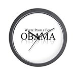 White people for Obama Wall Clock