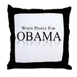 White people for Obama Throw Pillow