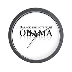 Barack the vote with Obama Wall Clock