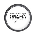 Barack and Roll with Obama Wall Clock
