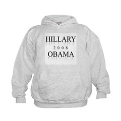 Hillary Obama 2008 Kids Hoodie