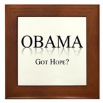 Obama: Got Hope? Framed Tile