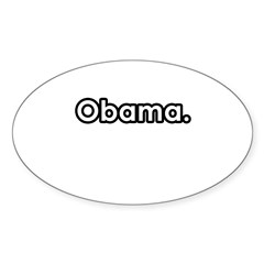 Obama period Oval Sticker