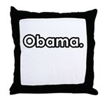 Obama period Throw Pillow