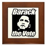 Barack the vote Framed Tile